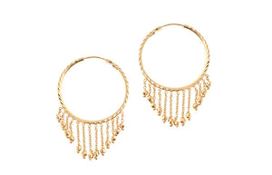 22ct Yellow Gold Drop & Hoop Earrings (7.8g) (E-6035)