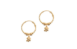 22ct Yellow Gold Drop & Hoop Earrings (3.1g) (E-6039)