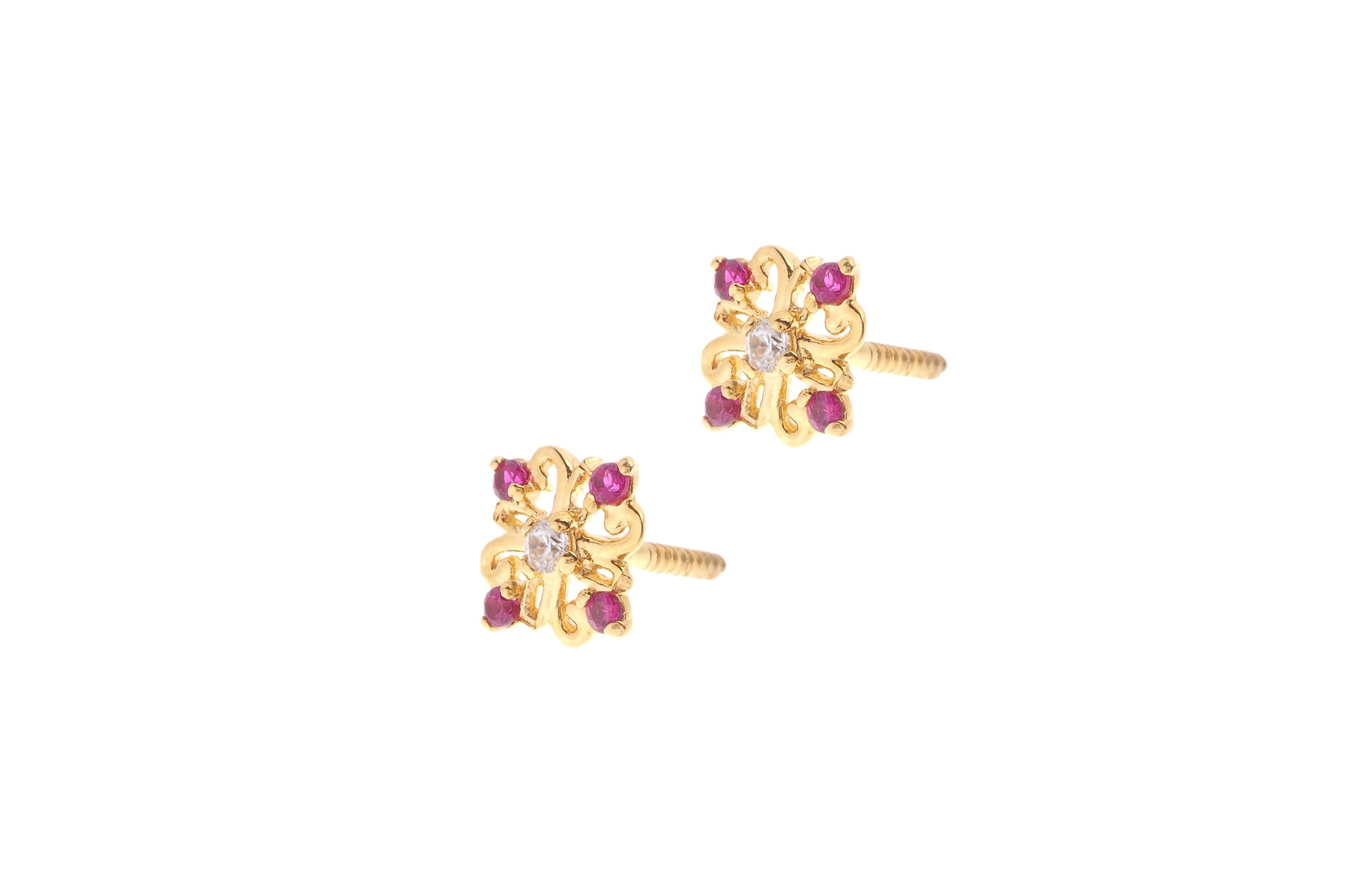 "22ct Gold Earrings Tagged ""earring type stud"" Minar Jewellers"