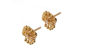 22ct Gold Filigree Design Drop Earrings (3.1g) (E-7188)