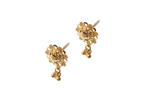 22ct Gold Filigree Design Drop Earrings (2.9g) (E-7190)