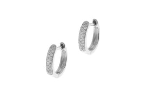 18ct White Gold 0.17ct Diamond Hoop Earrings (E23591B-80)
