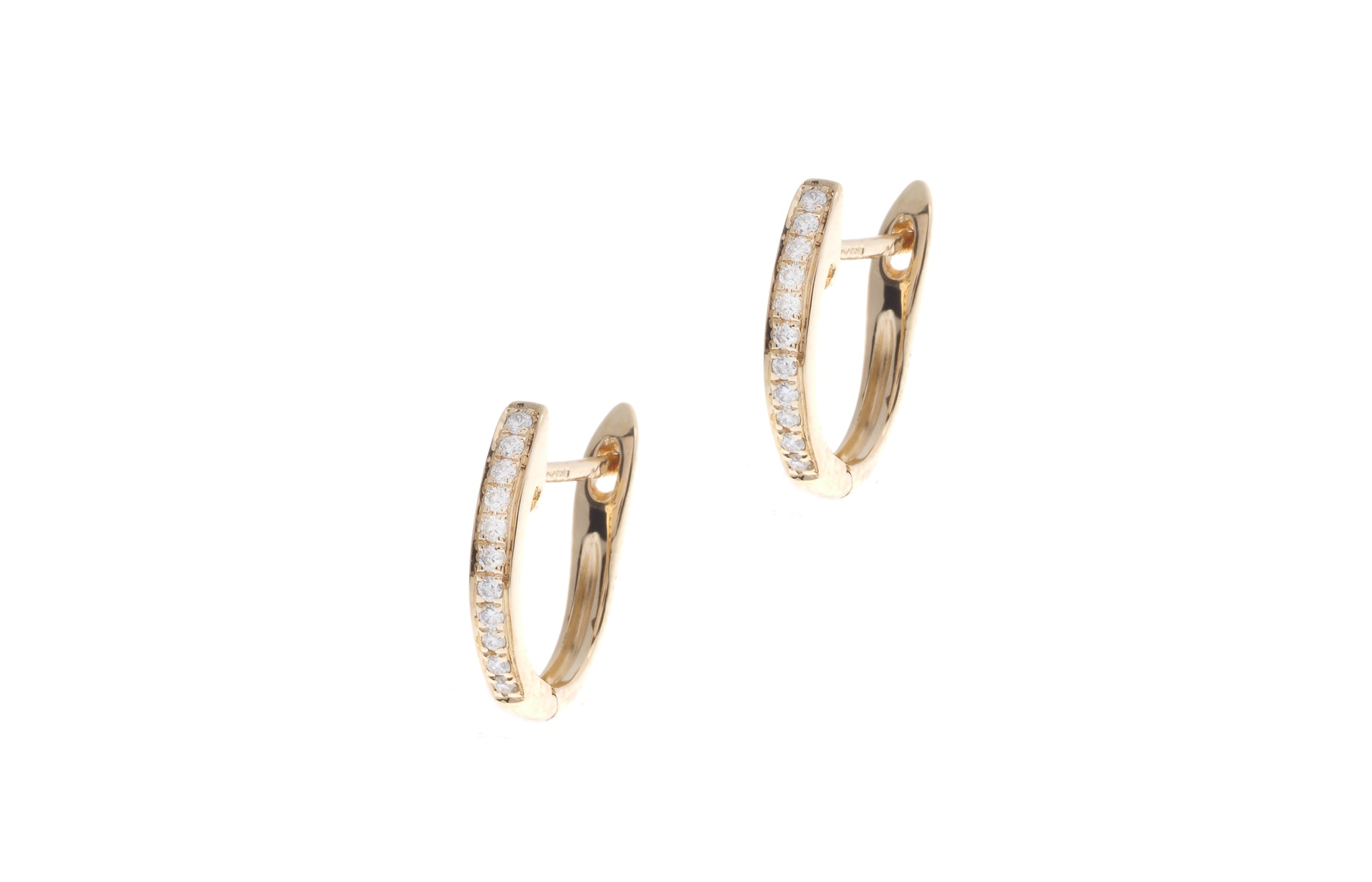 18ct Yellow Gold 0.08ct Diamond Hoop Earrings E30562B-9
