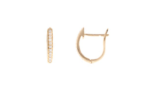 18ct Yellow Gold 0.08ct Diamond Hoop Earrings (E30562B-9)
