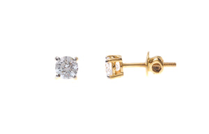 22ct Gold Cubic Zirconia Stud Earrings (1.81g) (ET10015)