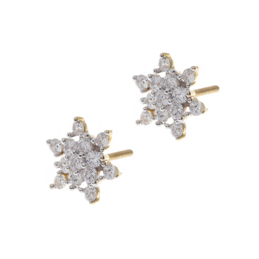 22ct Yellow Gold Cubic Zirconia Stud Earrings (4.19g) ET11070