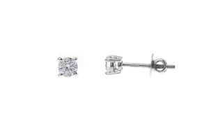 18ct White Gold Earrings set with Cubic Zirconia stones (ET12132)