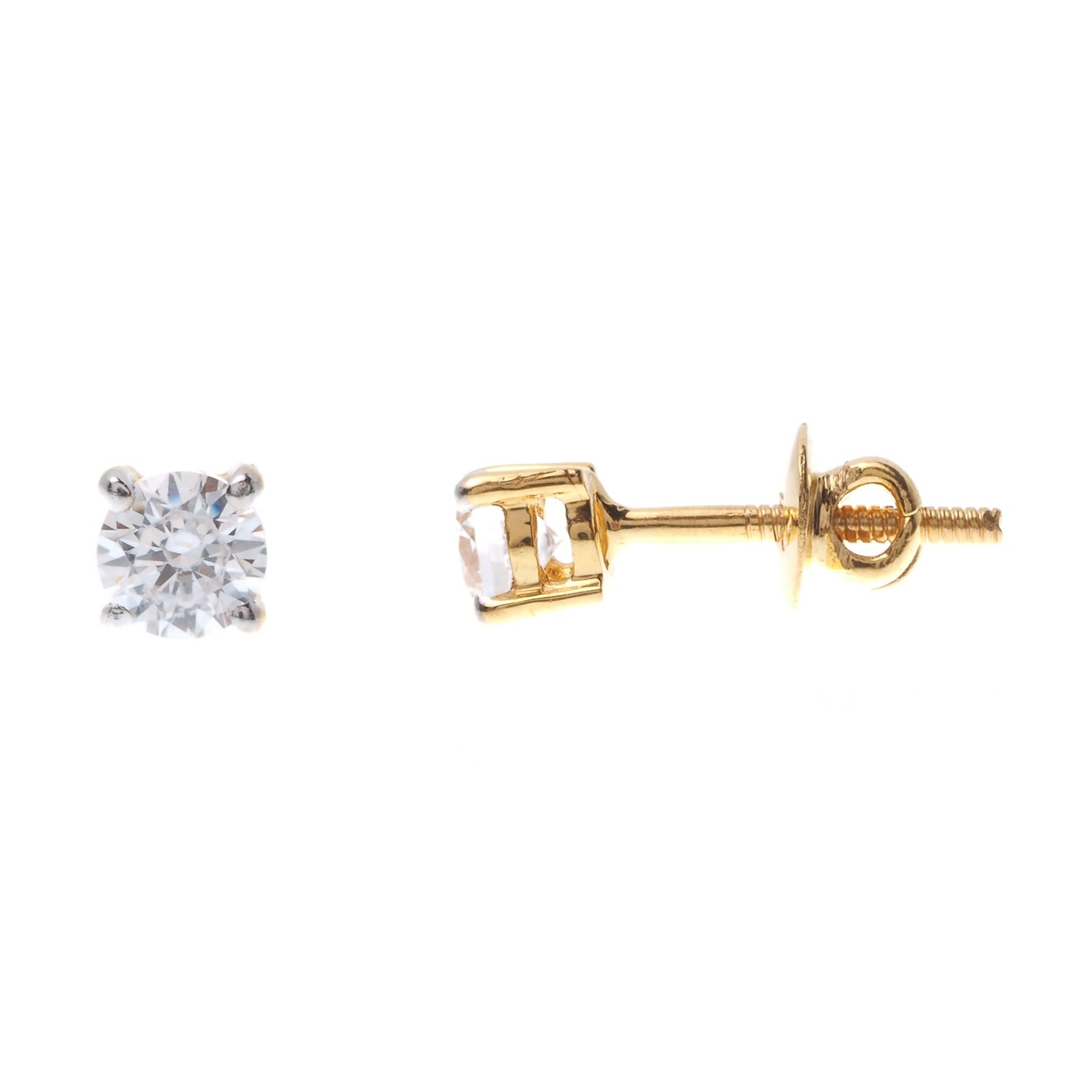 22ct Gold Swarovski Zirconia Stud Earrings (1.9g) ET12132