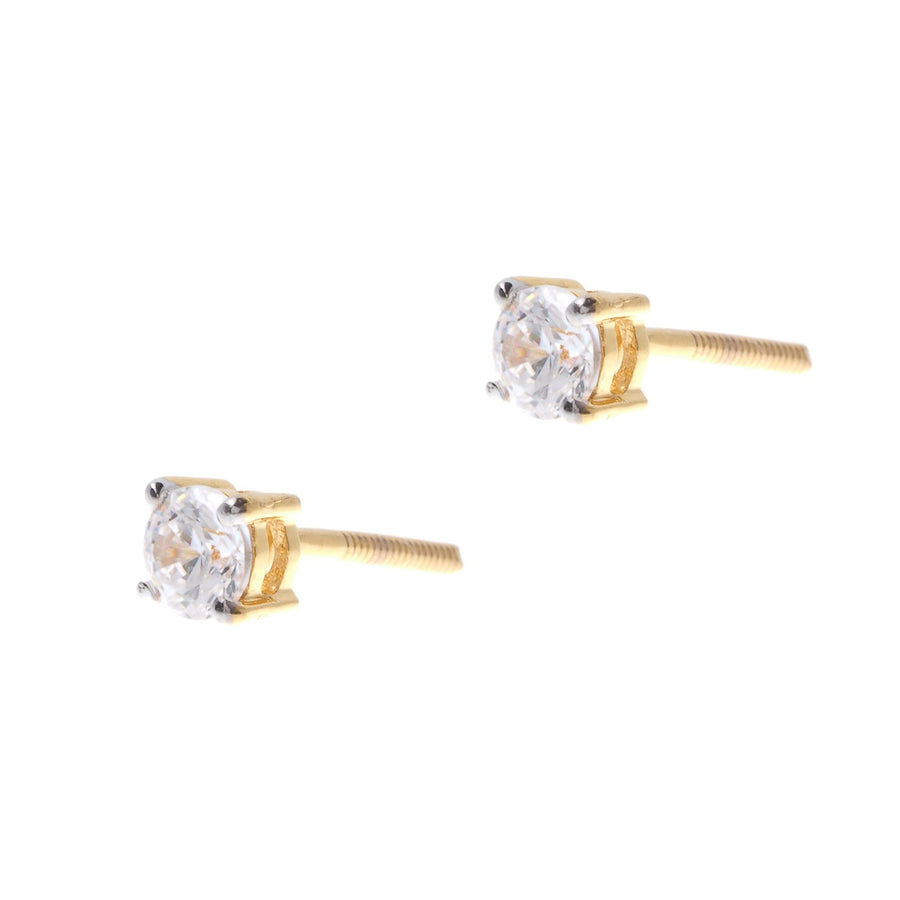 22ct Gold Cubic Zirconia Stud Earrings (1.73g) (ET12132)