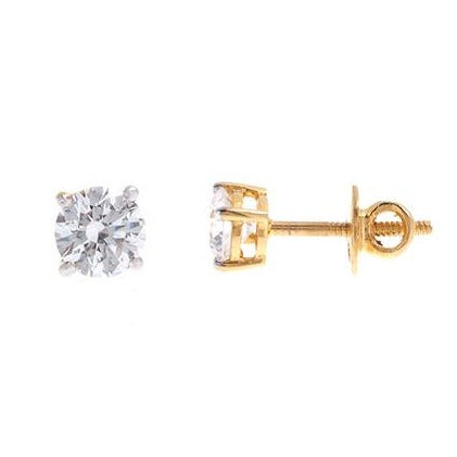22ct Gold Swarovski Zirconia Stud Earrings (1.72g) ET12134