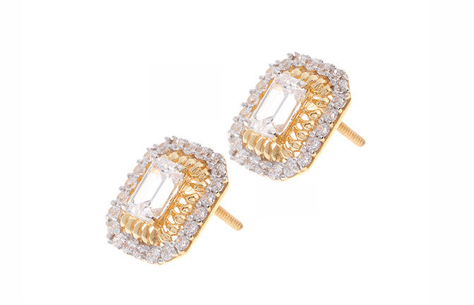 22ct Yellow Gold & Cubic Zirconia Stud Earrings (ET1308) (online price only)