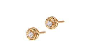 22ct Gold Cubic Zirconia Stud Earrings (2.32g) (ET13201)