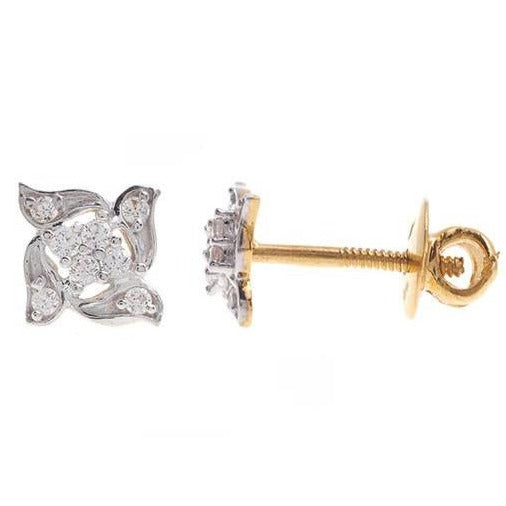 22ct Gold Swarovski Zirconia Stud Earrings (2.14g) ET14229