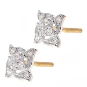 22ct Yellow Gold & Cubic Zirconia Stud Earrings (2.21g) (ET14229)