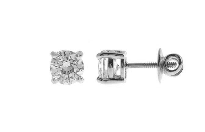18ct White Gold Earrings set with Cubic Zirconias (2.13g) ET14379