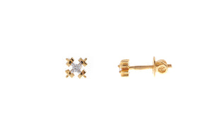 22ct Gold Cubic Zirconia Stud Earrings (1.74g) (ET7004)