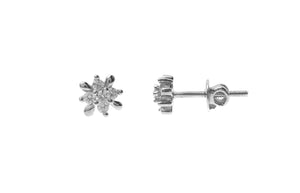 18ct White Gold Earrings set with Cubic Zirconia stones (ET7006)