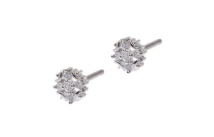 18ct White Gold Earrings set with Cubic Zirconia stones (ET7012)