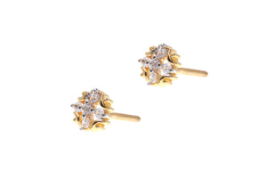22ct Gold Cubic Zirconia Stud Earrings (2.18g) (ET7012)