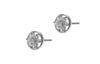 18ct White Gold Earrings set with Cubic Zirconia stones (ET7043)