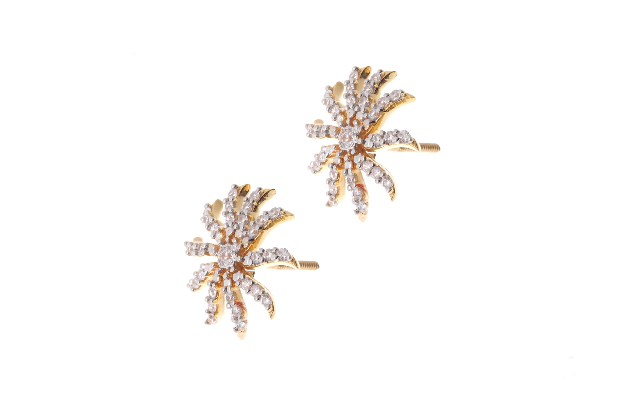 22ct Gold Cubic Zirconia Stud Earrings (5.28g) (ET9060)