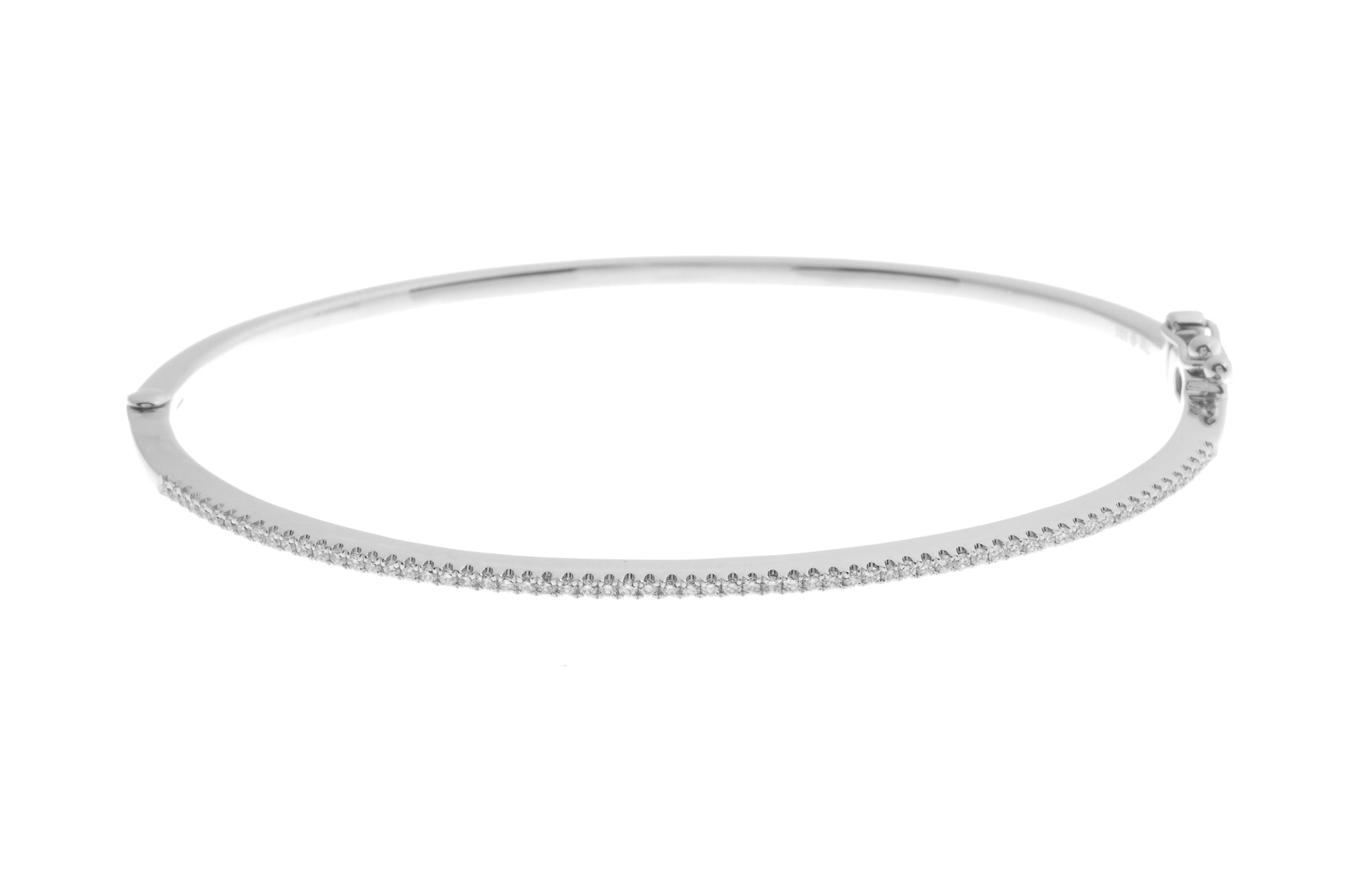 18ct White Gold Diamond Bangle with clasp (G30701-58)_1
