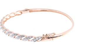18ct Rose Gold Diamond Bangle with clasp (G43403-2)_3