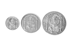 Sterling Silver Coin featuring Ganesh (G5-10-20)