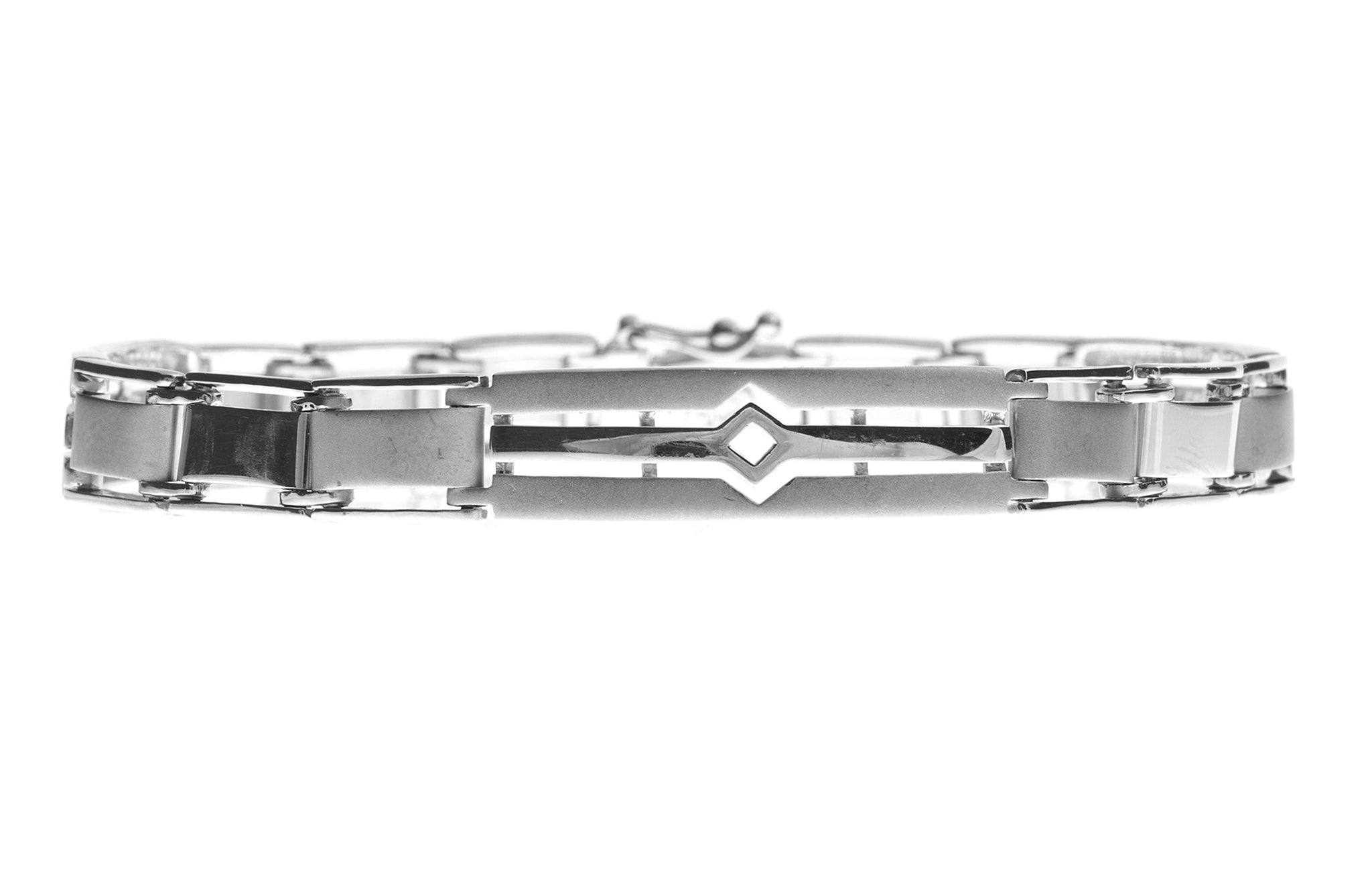 18ct White Gold Gents Bracelet (21.1g) (GBR-1089)