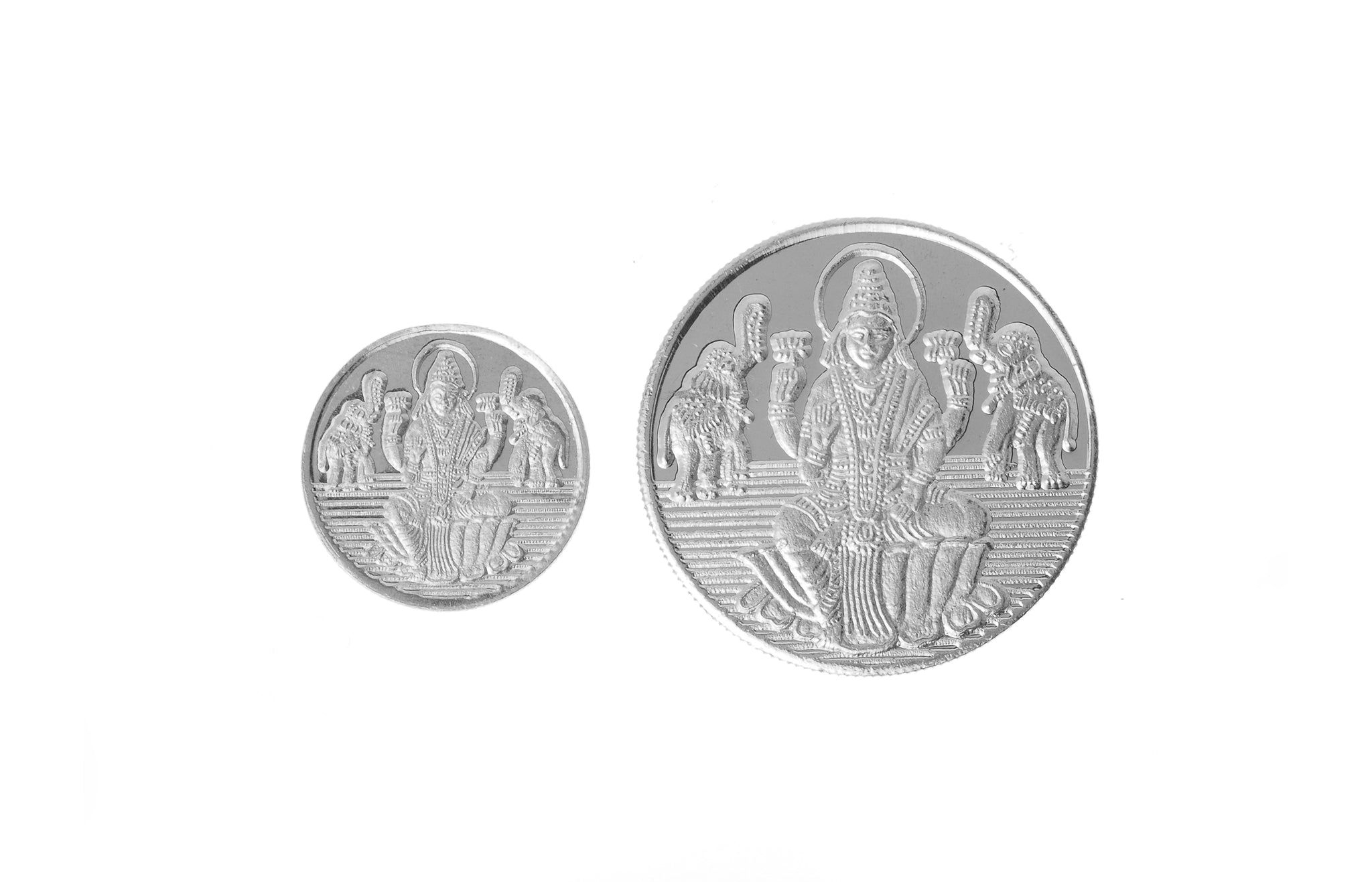 Sterling Silver Coin featuring Lakshmi and Ganesh (GLG5-20)