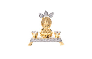 22ct Gold Cubic Zirconia Lakshmi Idol (5.39g) GP7120