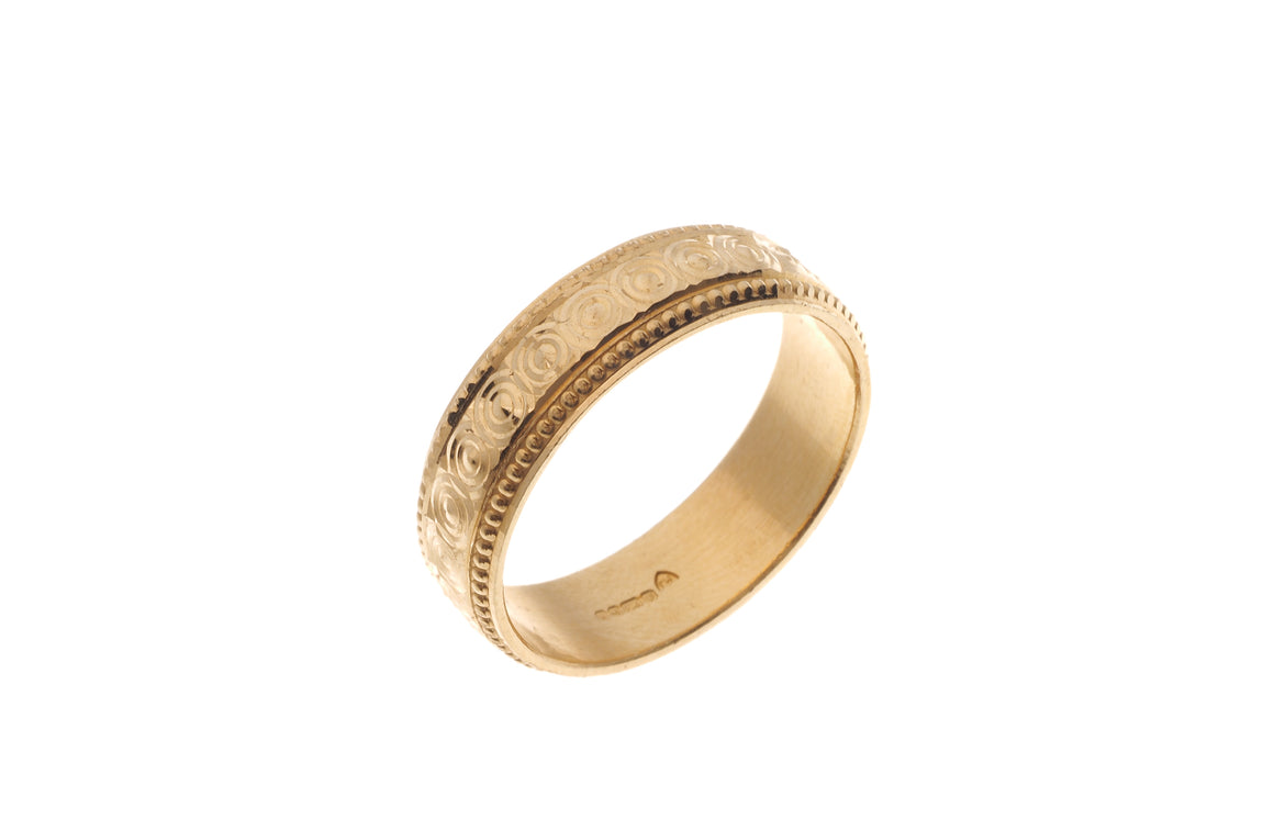 22ct Yellow Gold Gents Wedding Band (GR-4759) SPECIAL ORDER