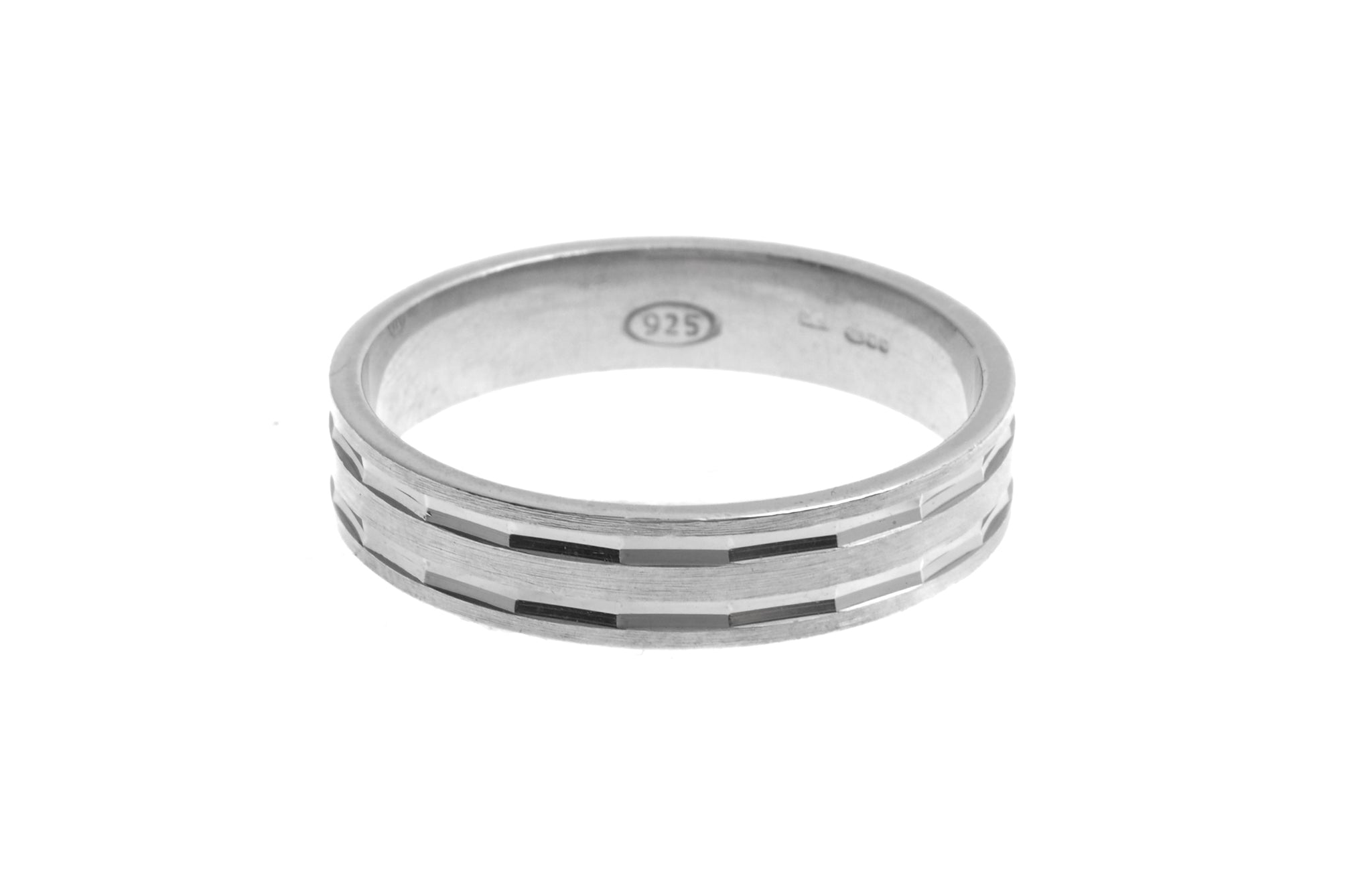 Sterling Silver Gents Wedding Band (GR-5821)
