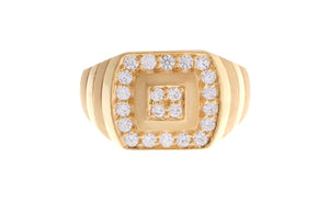 22ct Yellow Gold Cubic Zirconia Men's Ring (GR-6894)