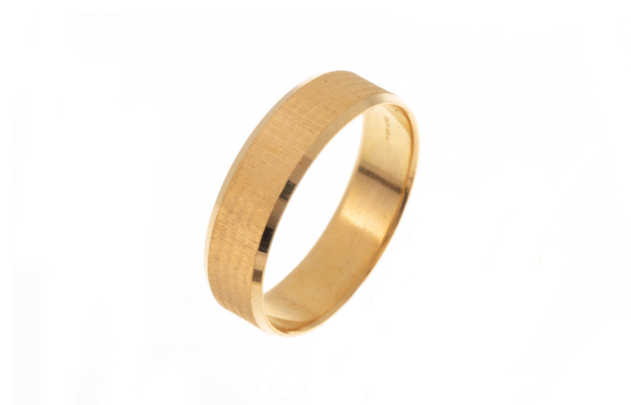 22ct Gold Wedding Band with Diamond Cut Design LR/GR-7371