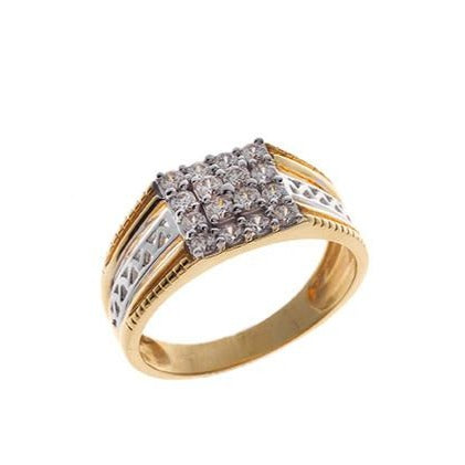 22ct Gold Cubic Zirconia Gent's Ring GR15010