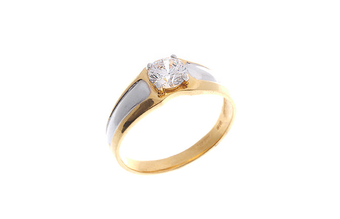 22ct Yellow Gold Cubic Zirconia Gent's Ring (GR7030)