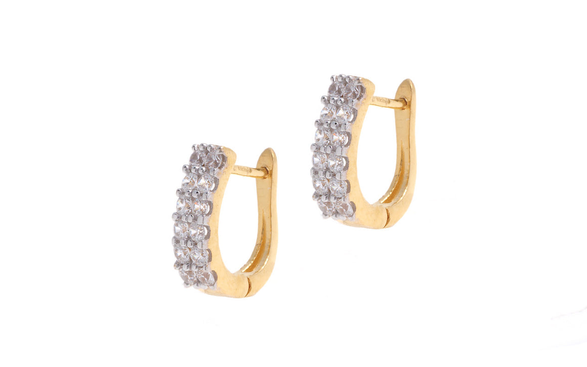 22ct Yellow Gold & Cubic Zirconia Hoop Earrings (HG0006) (online price only)