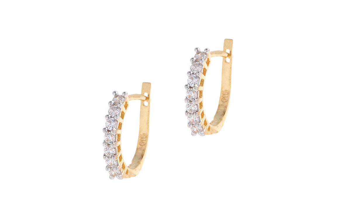 22ct Yellow Gold & Cubic Zirconia Hoop Earrings (HG0009) (online price only)