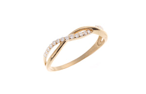 22 Carat Gold Cubic Zirconia Half Eternity Ring (JR1040-CZ)