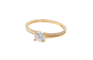 22ct Yellow Gold Cubic Zirconia Engagement Ring (JR1810-CZ)