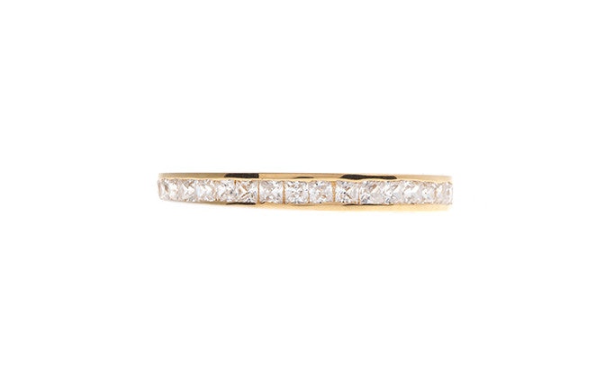 22ct Gold Cubic Zirconia Half Eternity Ring JR1953-CZ