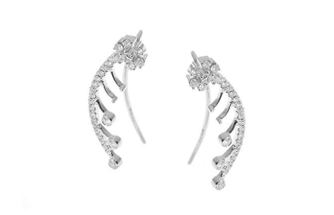 18ct White Gold 0.15ct Diamond Hoop Earrings (KCL0423)