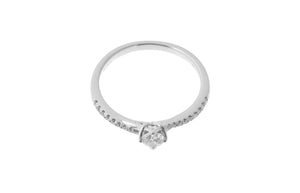 18ct White Gold Diamond Engagement Ring (KCLWR052519)