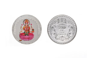 Sterling Silver Coin featuring Lakshmi (L20g)