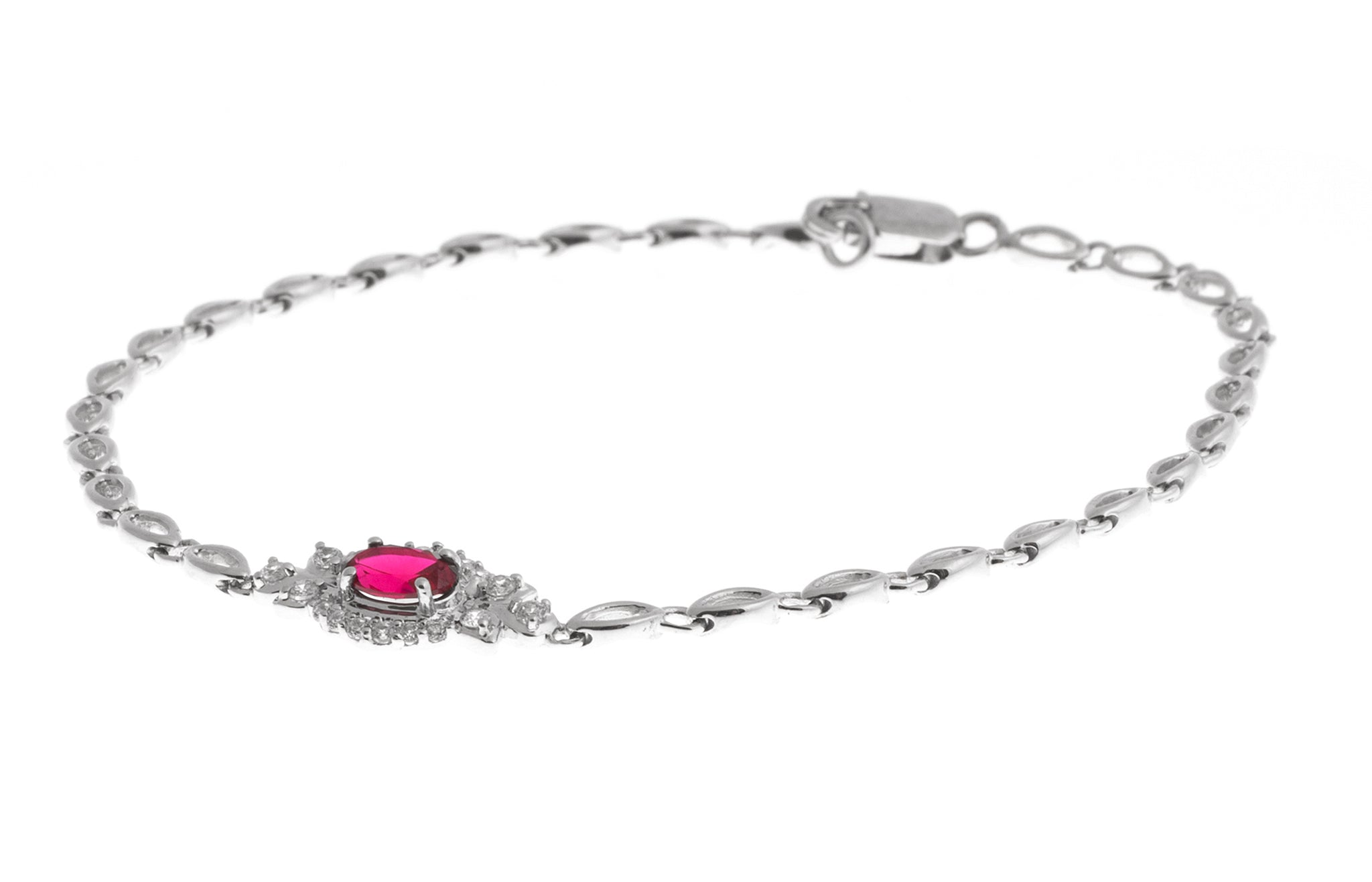 Stone Set 18ct White Gold Bracelet (5.5g) (LBR-1116)