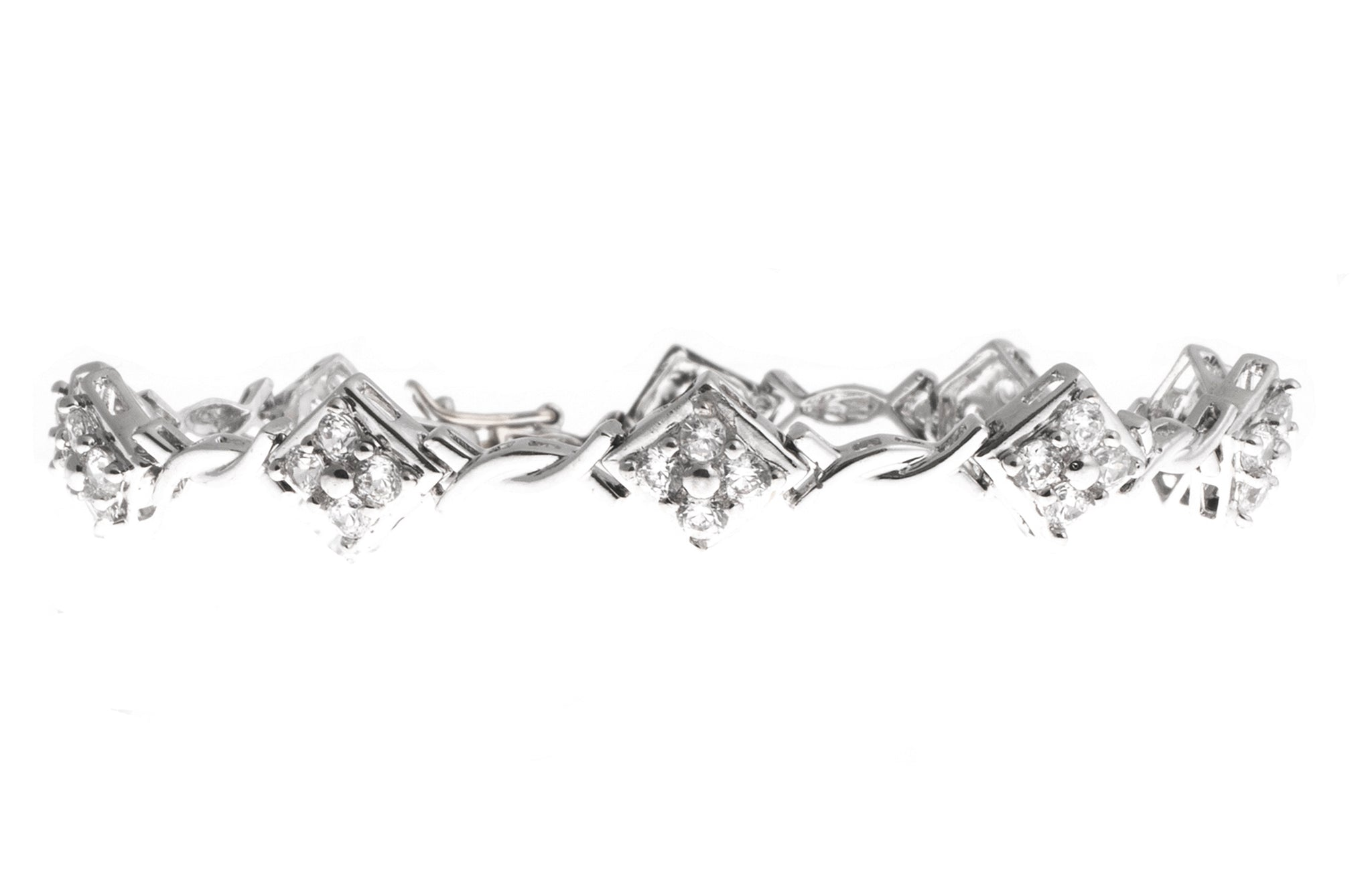 Stone Set 18ct White Gold Bracelet (13.5g) (LBR-1117)