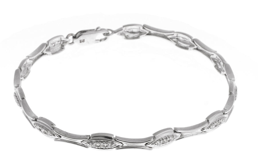 Stone Set 18ct White Gold Bracelet (11.7g) (LBR-1121)