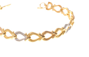 22ct Gold & Rhodium Design Ladies Bracelet with hook clasp (10.2g) (LBR-3974)