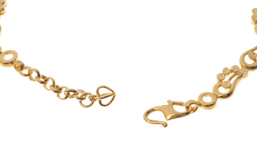 22 Carat Gold Ladies Bracelet (10.1g) (LBR-4130)